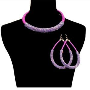 Jewelry - Glitter Purple Necklace Set